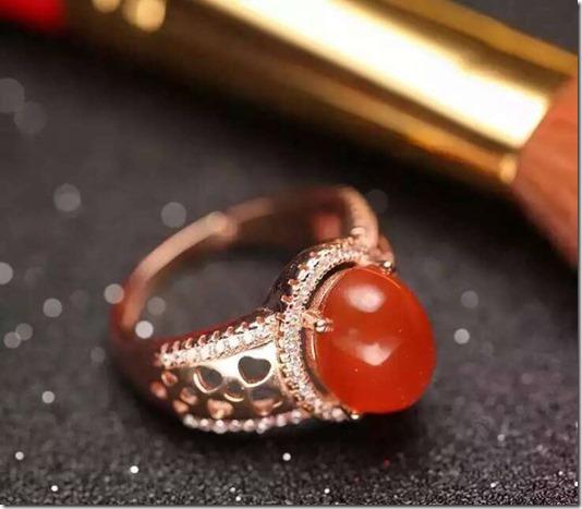 Природный-южная-красный-агат-Кольцо-Природных-драгоценных-камней-Кольцо-S925-стерлингового-серебра-модные-Элегантный-Полые-круглые
