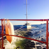 The ALB tows a yacht to Poole Harbour - 6 December 2014.  Photo credit: Paul Taylor
