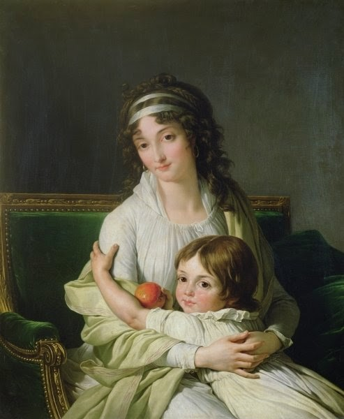 François-André Vincent - Portrait presumed to be Madame Jeanne-Justine Boyer-Fonfrede and her son, Henri
