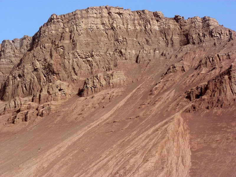 XINJIANG.  Turpan. Ancient city of Jiaohe, Flaming Mountains, Karez, Bezelik Thousand Budda caves - P1270899.JPG