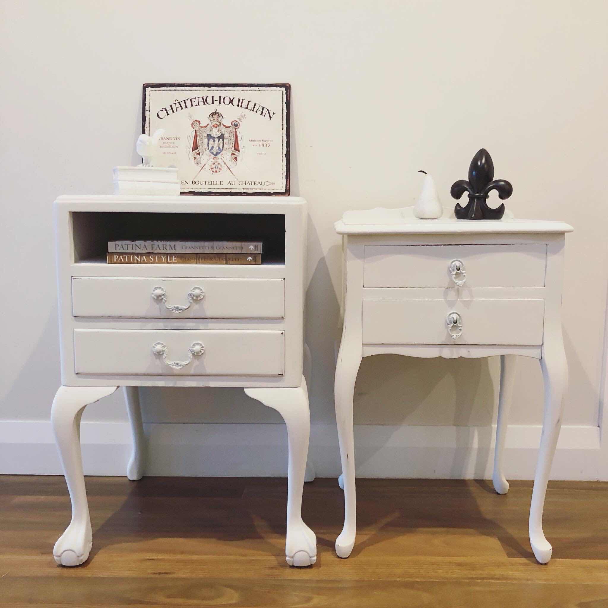 Lilyfield Life Hand painted vintage bedside tables