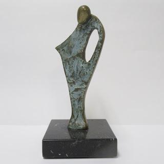 Signed Brass & Granite Sculpture
