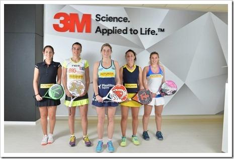 3M en apoyo al pádel femenino presenta el equipo FUTURO como patrocinador principal.