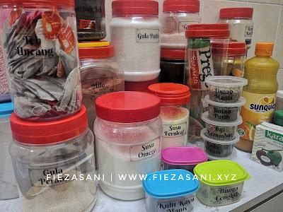 diy sticker rempah ratus, label untuk barang dapur,mana nak beli transparent sticker