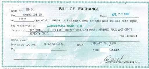 Bill Of Exchange Sample - Unitedijawstates