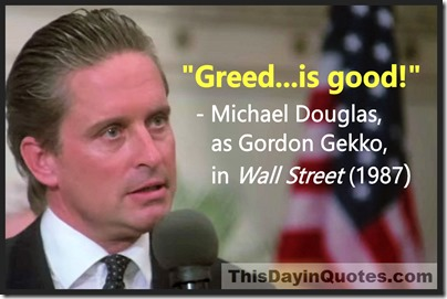"This Day in Quotes: ""Greed is good!"" – the famous movie misquote and it's  real life inspiration"