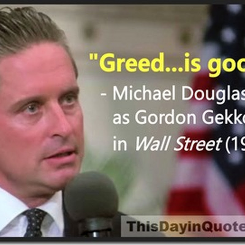"""Greed is good!"" – the famous movie misquote and it's real life inspiration"