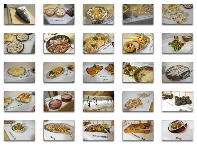 テーブルいっぱいに並ぶお料理の数々