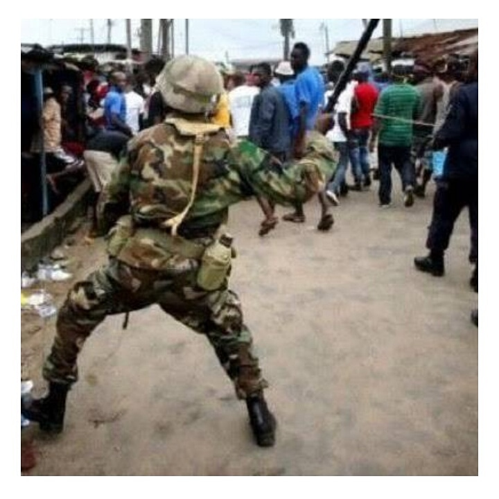 Army General pulls up Gun on Frsc operatives and beats up workers