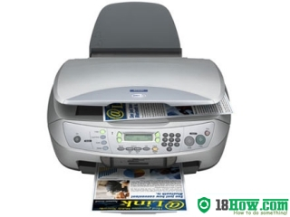 How to reset flashing lights for Epson CX6500 printer