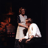 Cynde Schwartz and Bob Laurilliard in LOOK HOMEWARD, ANGEL (R) - March 1994.  Property of The Schenectady Civic Players Theater Archive.