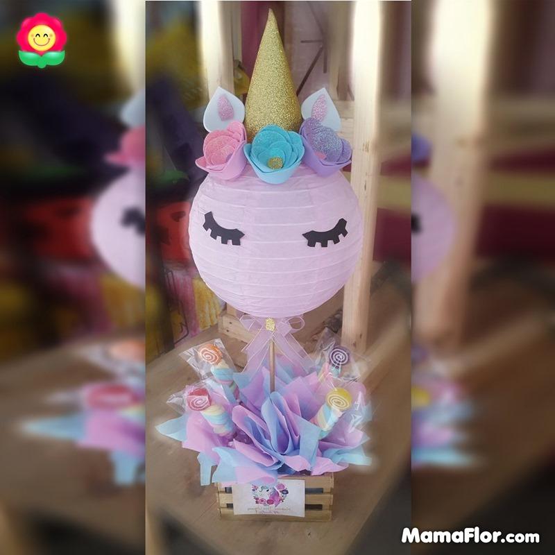 centros de mesa unicornios fiesta 16