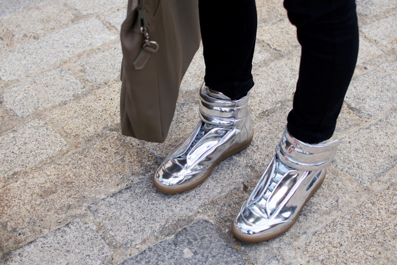 Shiny Shoes at London Fashion Week