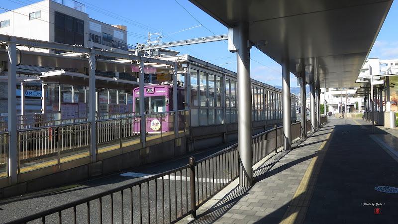 日本京都嵐電西院站