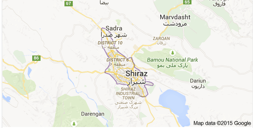 Endangered Languages Project JudeoShirazi Map of Shiraz in the