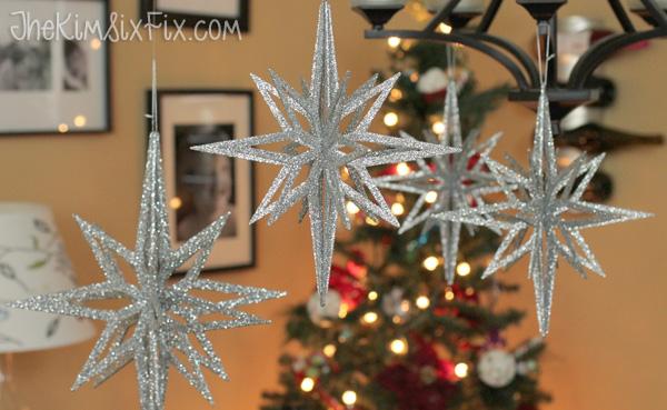 Three Dimensional Glitter Stars