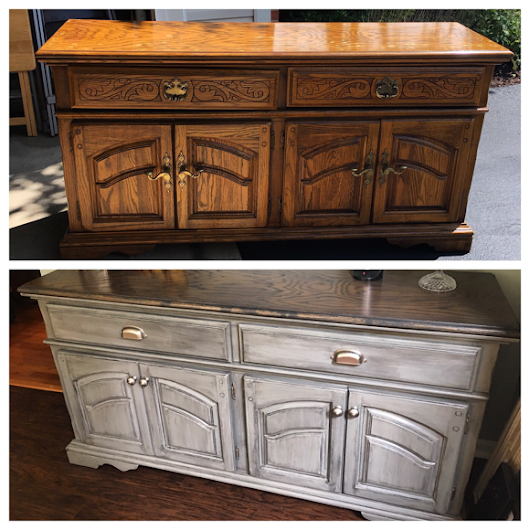 From Outdated to Farmhouse: Sideboard Upcycle