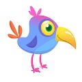 Funny Cartoon Bird Free Download Vector CDR, AI, EPS and PNG Formats