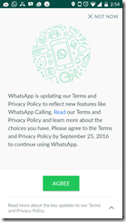 new terms of service and privacy whats app