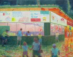 "Photo: Steamed Dogs (Old Orchard Beach, ME) 16x20"" oil, $700"