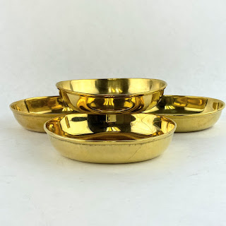 This Co. NEW Brass Oval Set 4 Bowls