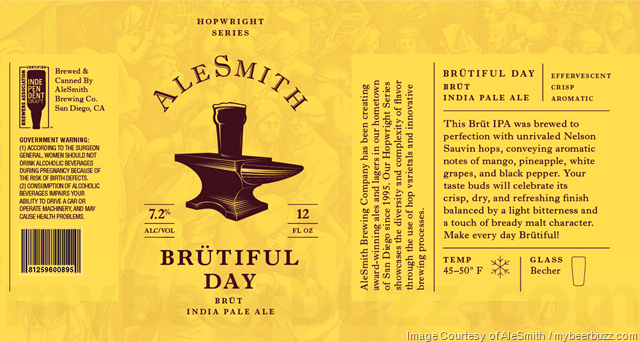 AleSmith Brütiful Day Coming To 12oz Cans