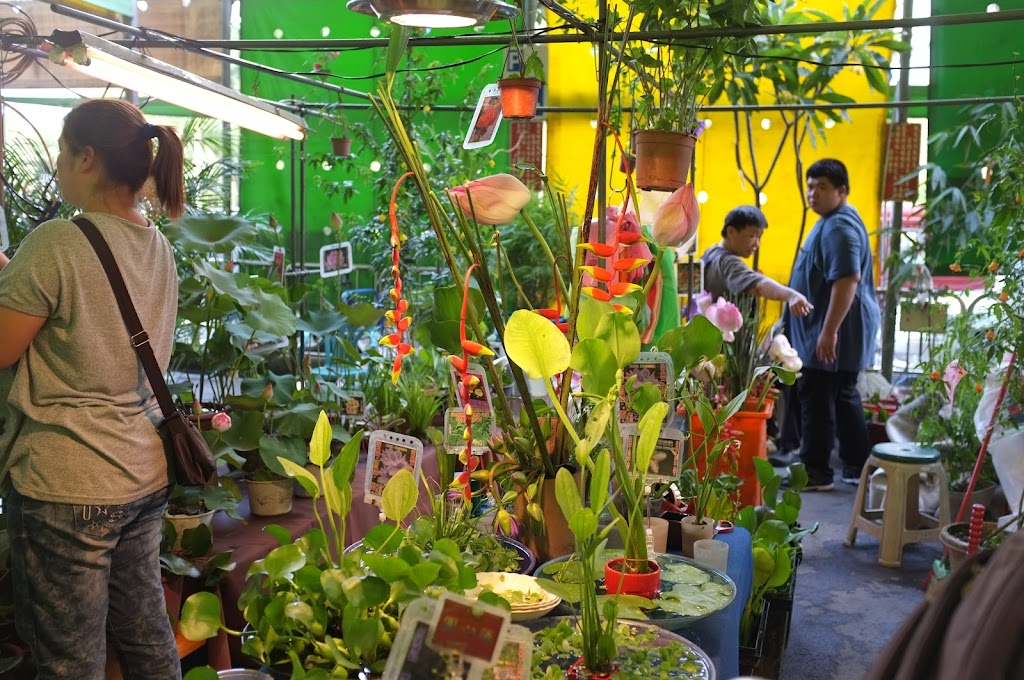 Jianguo holiday flower market in Taipei