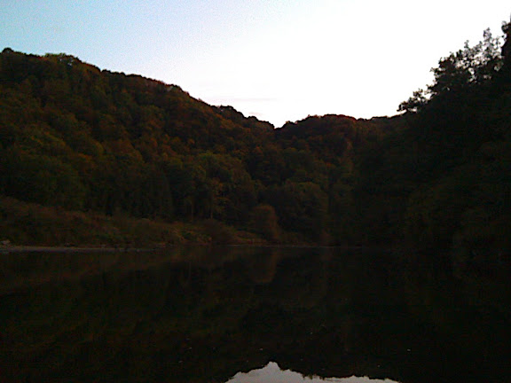 Approaching Symonds Yat at Dusk...