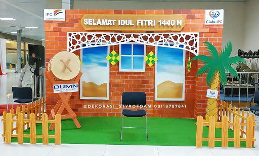 dekorasi Styrofoam photobooth lebaran idul Fitri