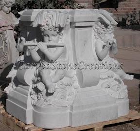 Cherub, Child, Figure, Interior, Marble, Pedestal, Statues