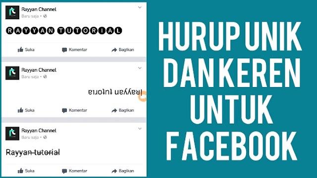 Cara Buat Tulisan Keren di Facebook