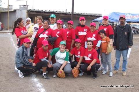 Equipo Pioneras del torneo de softbol femenil del Club Sertoma