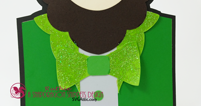 Leprechaun character shaped card, SnapDragon Snippets, Ruthie Lopez. 3