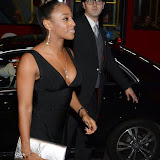 WWW.ENTSIMAGES.COM -  Alexandra Burke  arriving at    The Breast Cancer Care Fashion Show at Grosvenor House, London October 1st 2014Breast cancer charity hosts annual fashion show featuring women - and men - who have suffered from the disease.                                                      Photo Mobis Photos/OIC 0203 174 1069
