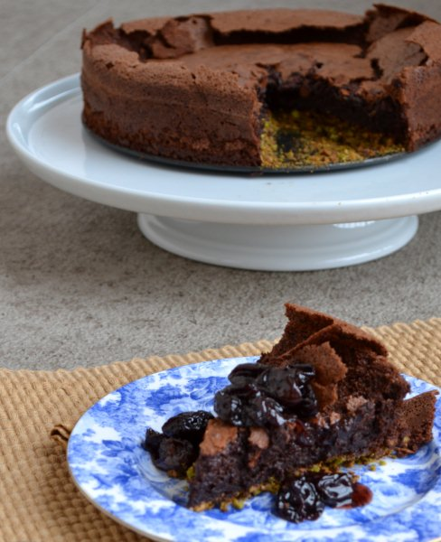 more than burnt toast: Fallen Chocolate Cake with Cherry ...