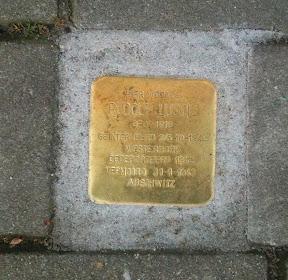 Rudolf Lustig - Beltstraat 28a - Stolperstein Enschede.