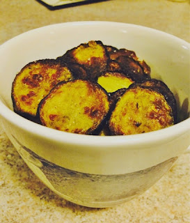 Finished zucchini chips