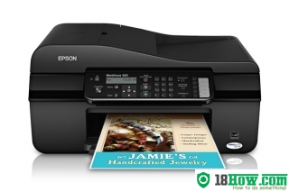 How to reset flashing lights for Epson WorkForce 320 printer