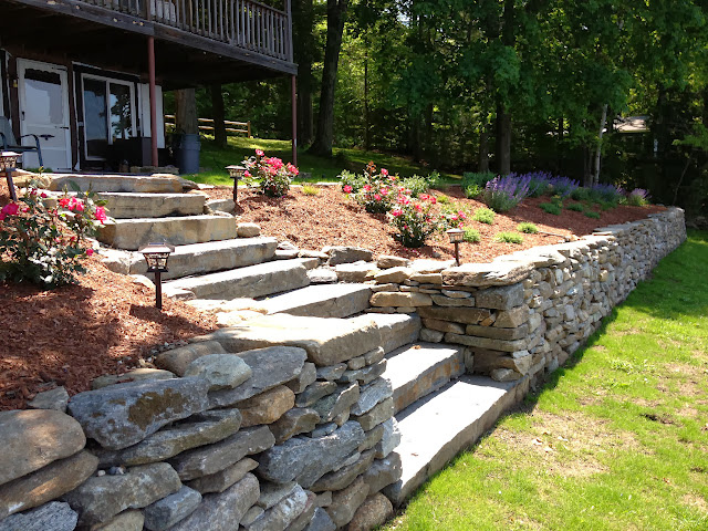 Stone wall with Perennial Bed Plantings