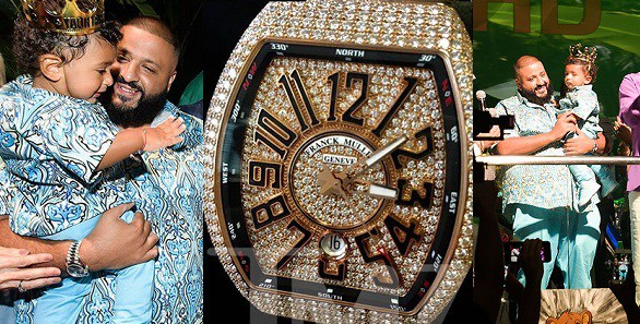 DJ Khaled Buys Son Asahd, a N36 Million Diamond-Encrusted Watch for His 1st Birthday (Photos)