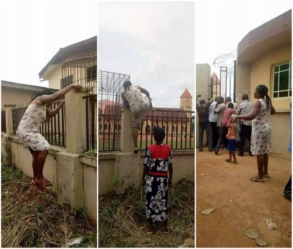 Check Out This Photo of a Mother Who Jumped a School Fence to Pick Up Her Kid Over Monkeypox Rumors (Photos)