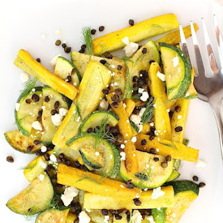 Summer Squash Salad with Crispy Capers