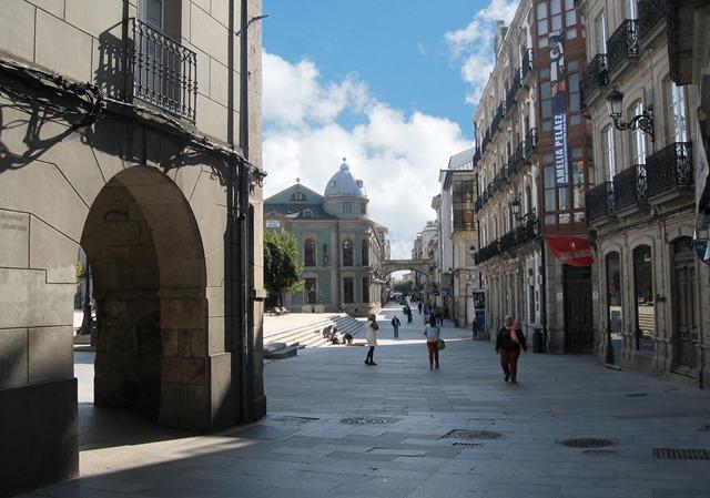 Rúa y puerta Obispo Aguirre