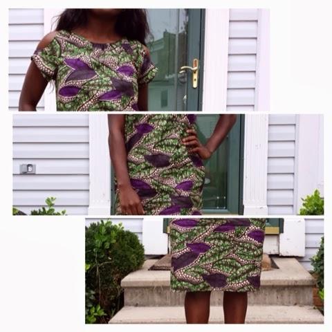 be846bd6997aa Cold Shoulder Ankara Dress with Pockets   Sew Urbane