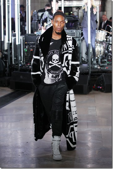 NEW YORK, NY - FEBRUARY 13:  Rapper Fetty Wap walks the runway wearing look #16 for the Philipp Plein Fall/Winter 2017/2018 Women's And Men's Fashion Show at The New York Public Library on February 13, 2017 in New York City.  (Photo by Thomas Concordia/Getty Images for Philipp Plein)