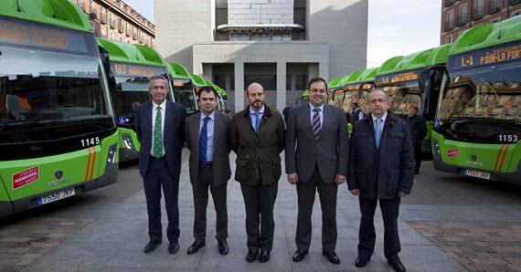 15 nuevos autobuses interurbanos GNC para Leganés, Madrid y Fuenlabrada