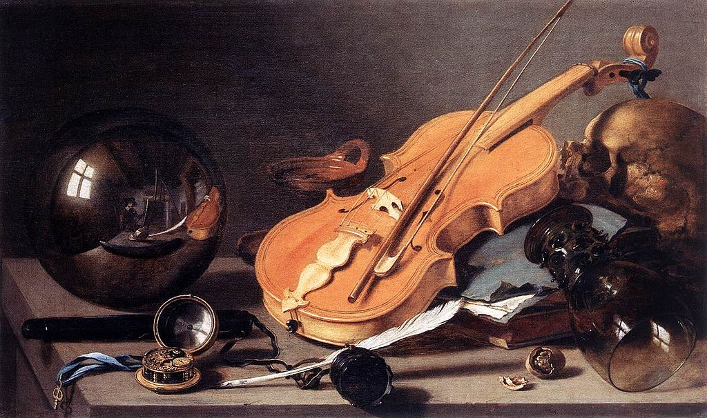 Pieter Claesz - Vanitas Still Life with Self-Portrait