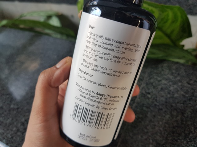 Organic Bulgarian Rose Toner by ALTEYA ORGANICS