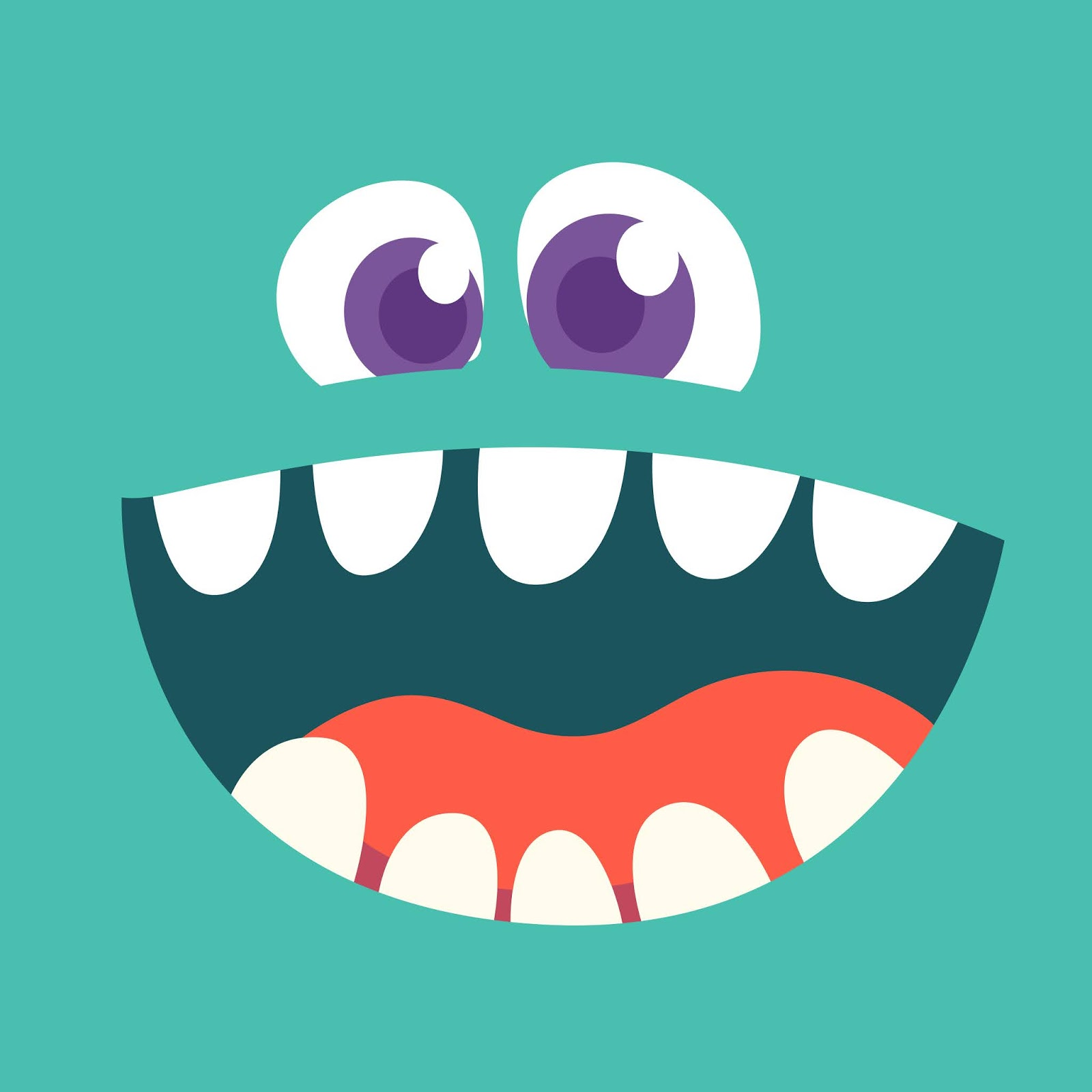 Cartoon Monster Face Avatar Free Download Vector CDR, AI, EPS and PNG Formats