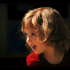 Innocent Revolution by Veronica Gafton - Babies & Children Children Candids ( blonde, girl, happy, smile, profile )